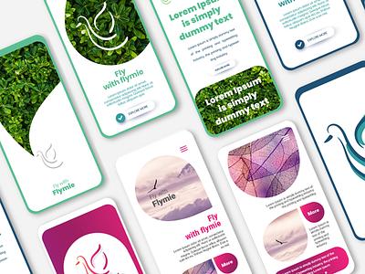 Flymie Brand Identity app typography web logo photoshop branding ux ui illustration illustrator