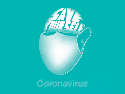 Coronavirus Self Protection Campaign design ui vector logo typography branding corona virus photoshop illustration illustrator
