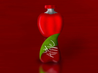 Fresh apple juice illustration background design logo branding typography photoshop procreate product development product design product mockup illustration illustrator