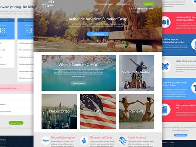 USA Summer Camp Website