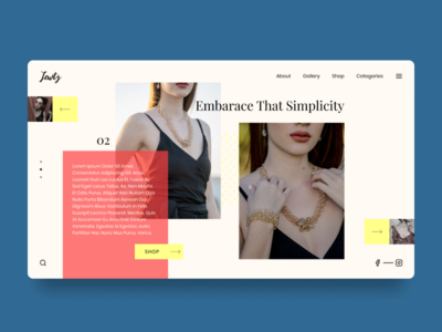 Jewelry Shop Website Design Concept