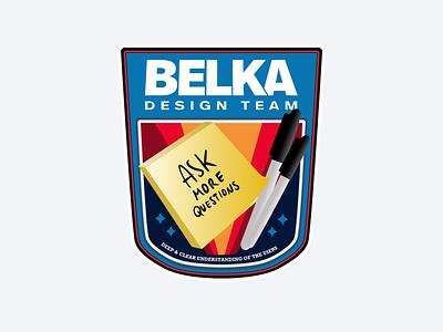 Belka Design Team Space Patch space post it postit sharpie patch design team sticker nasa spaceman astronaut spaceship illustration