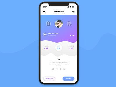 User Profile Mobile app mobile