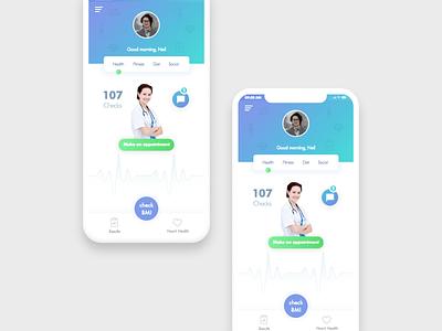 Health App mobile ui health