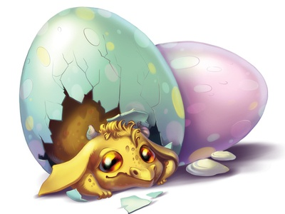 Baby rdagon in the egg