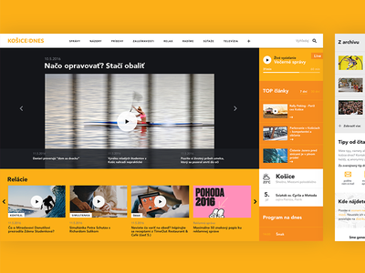 TV & News Portal - Kosice pinka tomaspinka web desgin user interface design bold negative space typography