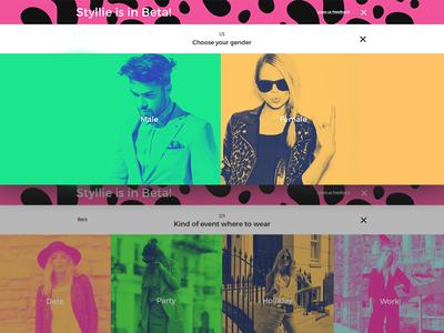 Styllie -  Fashion platform pinka tomaspinka typography colors duotone cards fullscreen ui creator