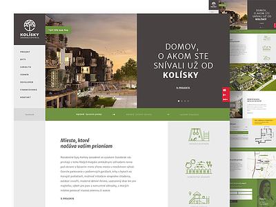 Kolisky - Real estate project negative space typography user interface design webdesgin real estate