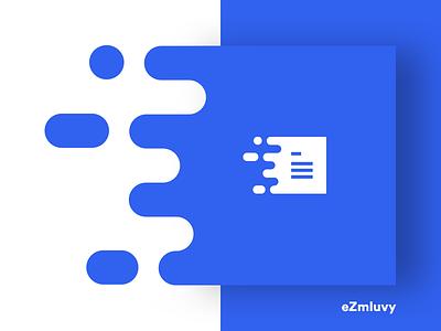 eZmluvy - logo agreement blue branding logo