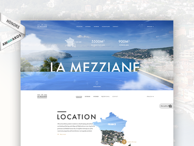 Villa Mezziane - Real estate project awwwards whitespace ui typography simplicity layout singlepage