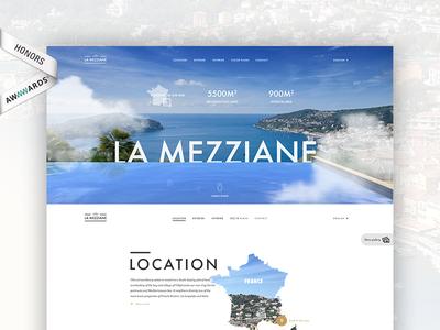 Villa Mezziane - Real estate project awwwards whitespace ui typography simplicity layout singlepage