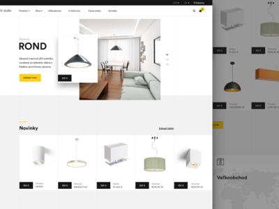 Light Studio - e-commerce webpage modern white space typography concept web minimal lightning e-shop e-commerce