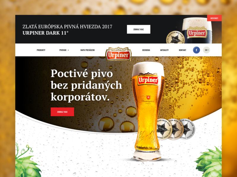 Urpiner - Webpage brewery webdesign bold urpiner beer