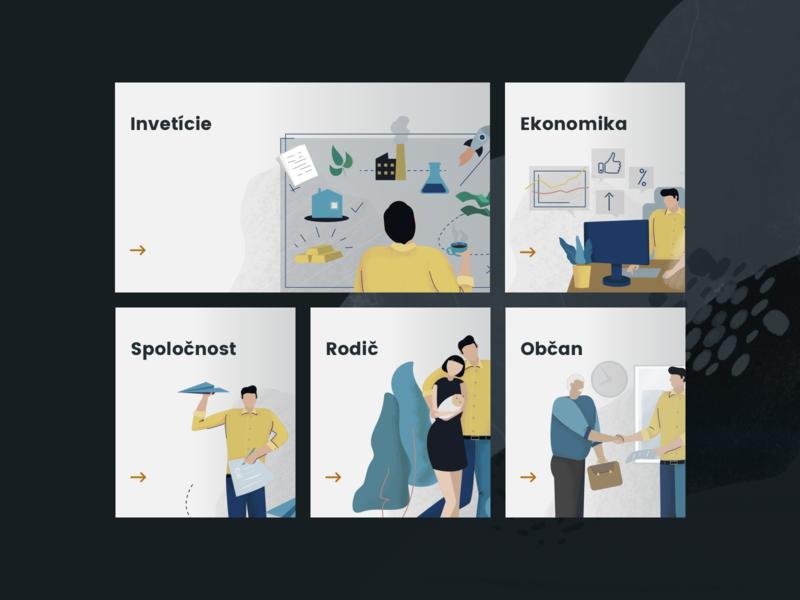 Wealth Report - Categories animation survey millionaire report wealth finance bank illustration categories