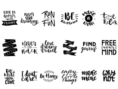 lettering phrases for stickers