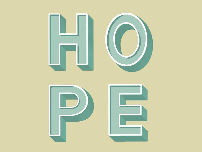 Hope procreate letters lettering hope
