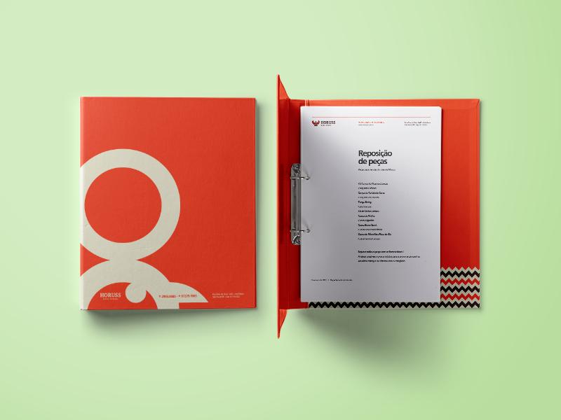 Horuss Binder file folder gênia branding brand binder horuss