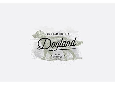Dogland logo dog training dog dog illustration illustration logotipe logo