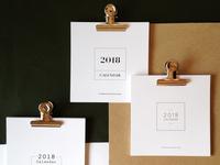 2018 Minimalist Calendars - for SaraMotaViana's Stationery