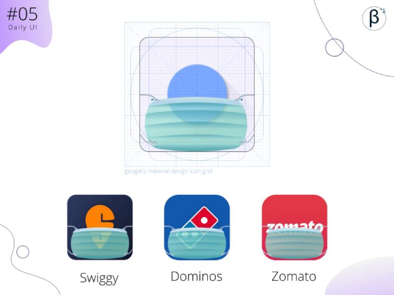 App icon to promote healthy practices facemask google material design dailyuichallenge appicon userexperience figma dailyui customertrustbuild