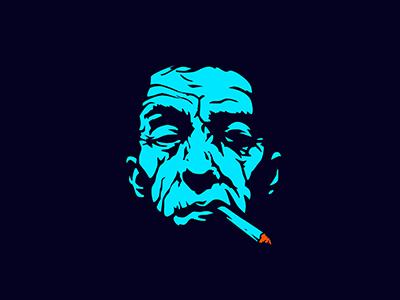 old artist wrinkles man old smoking artist