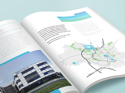 Catalogue - Real Estate Investment real estate investment catalogue brochure offices new buildings wroclaw blue green