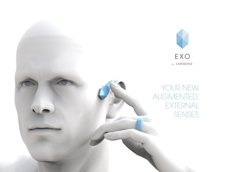 Jawbone Wearable EXO Ecosystem - Visualizations internet of things interaction exo headset ring smartwatch smart wearable tech wearable jawbone campaign adv advertisment industrial design product design design product human cgi render