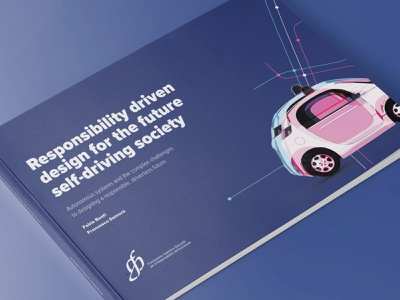 Self-Driving Society - White Paper design graphic milano politecnico foundation bassetti future speculative driverless car society transportation mobility driverless autonomous white paper book cover book editorial research