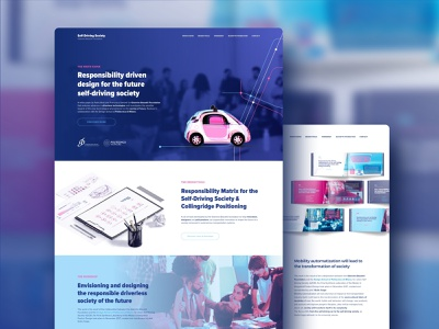 Self Driving Society - Website / Landing Page guida autonoma webdesigner responsive milano politecnico polimi foundation bassetti responsible innovation landing page mobility driverless self-driving web webdesign landingpage website