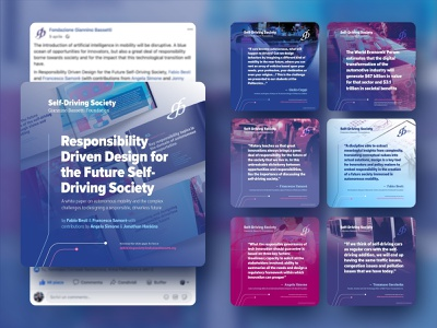 Self Driving Society - Social Media cards paper bassetti foudation milano politecnico driverless mobility self driving social media pack graphic graphic design branding social media design communication cards campaign social media