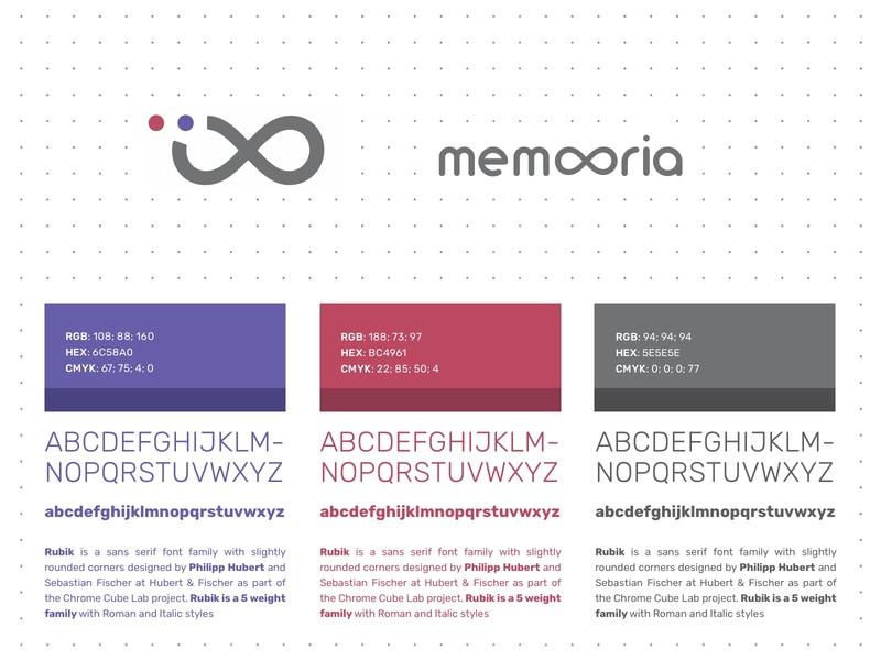 Memooria Logo & Design System art director art direction startup memory brandidentity foundation cariplo milano logomark logo design logotype design strategy typeface typography colors palette colors logo branding design brand design branding