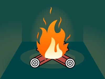 Festive Fireplace Scene _ Yule Log Illustration