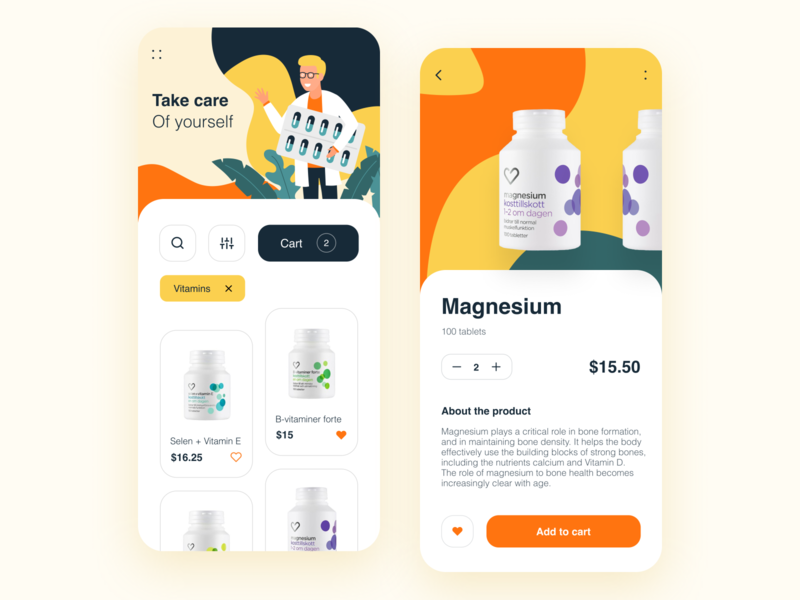 Online Pharmacy Design Concept