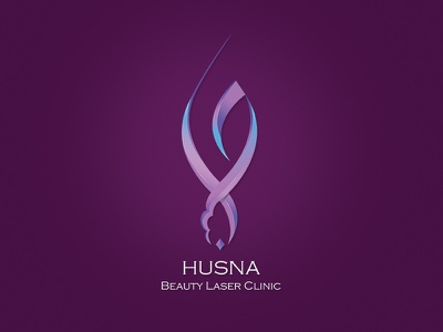 Husna Laser 3D Arabic Logo brand 3d shading 3d logo arabic designer calligraphy arabic color shading 3d