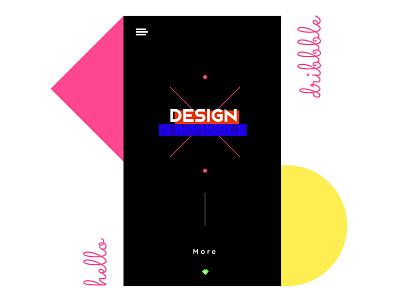 Hello Dribbble exploration screen ui debute shot hello typography ux ui