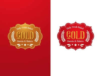 Gold Bakery Logo Design Luxury Colors typography art logodesign baking sweets logo sweets bakery logo