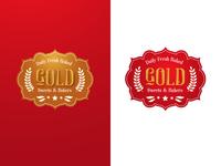 Gold Bakery Logo Design Luxury Colors