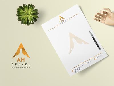 AH Travel Logo & Branding logodesign travel agency design branding