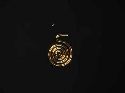 S gold gold digital art art logotype illustration
