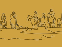 A quick sketch of horse-riders riding horses