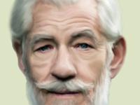 Digital Portrait of Ian McKellen