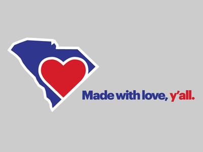 Made with love in Charleston, South Carolina