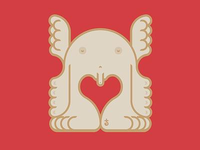 Stupid Cupid vector illustration flat cupid