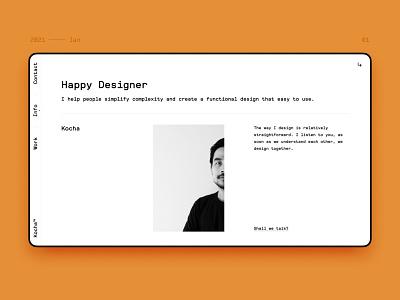 2021 personal site update. ux designer portfolio site website design