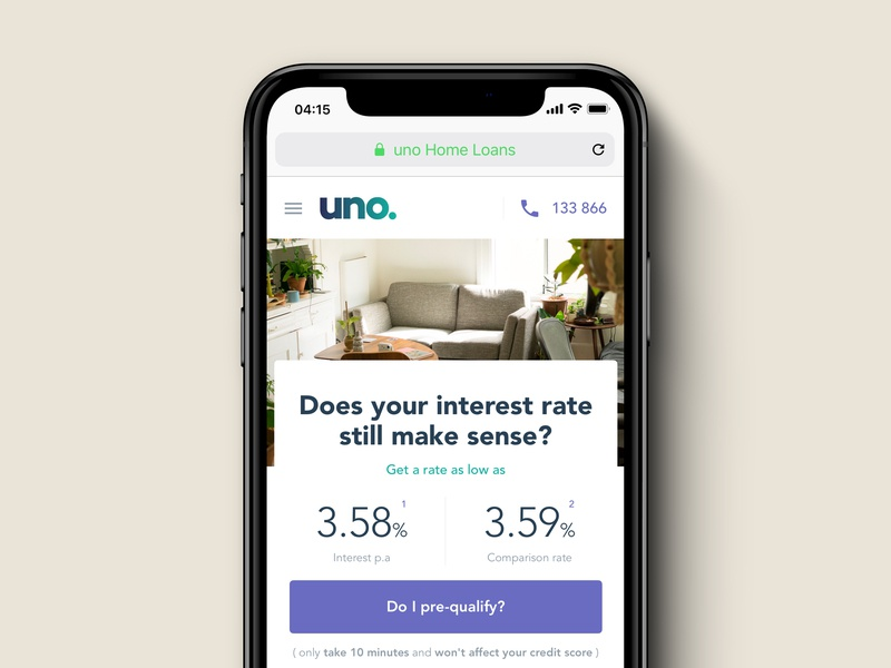 Uno home loans—2018 interaction design interface design ux design ux strategy