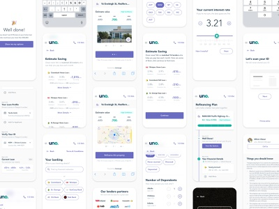 uno home loans—early explorations fin tech interface design ux strategy ideation