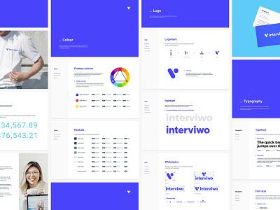 Interviwo Brands—01 brand guideline visual  identity video app brand identity