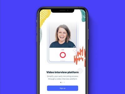 Interviwo—Value Proposition video app interaction design interface design ux strategy onboarding screens