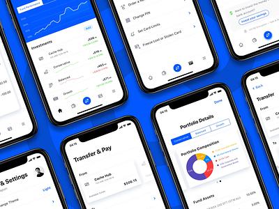 Cache mobile app design — 01 fin tech ux design ux strategy interaction design interface design