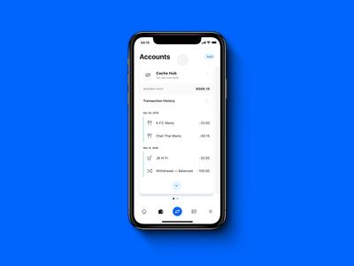 Cache mobile app design — 02